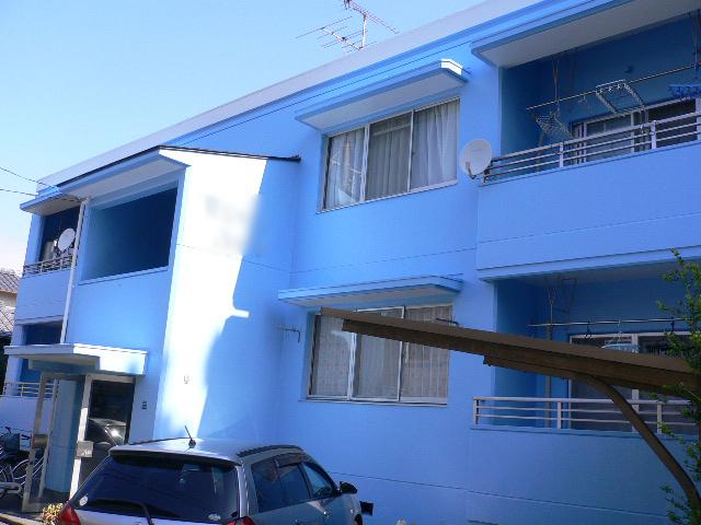 静岡市駿河区 アパートM 外壁塗装リフォーム事例