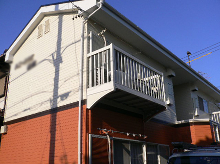 静岡市駿河区 Hアパート 階段・外壁・屋根塗装リフォーム事例