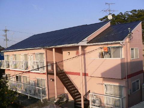 静岡市駿河区 Dアパート 外壁・屋根塗装リフォーム事例