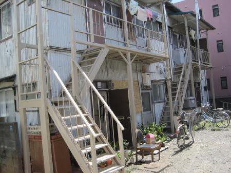 静岡市駿河区 鉄骨階段塗装改修工事 Kアパート