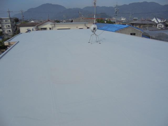 静岡市駿河区 S様所有アパート 屋上防水塗装リフォーム事例