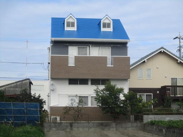 静岡市駿河区 Y様所有アパート 外壁・屋根塗装リフォーム事例