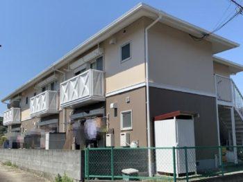 静岡市清水区 I様所有アパート 外壁・屋根塗装リフォーム事例